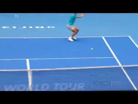Shot - Rafael Nadal nearly pushes Richard Gasquet out the picture with this baseline barrage in Beijing. Watch live matches at http://www.tennistv.com/