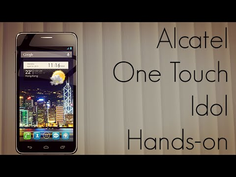 Alcatel One Touch Idol Hands-on - World's Lightest Android Smartphone