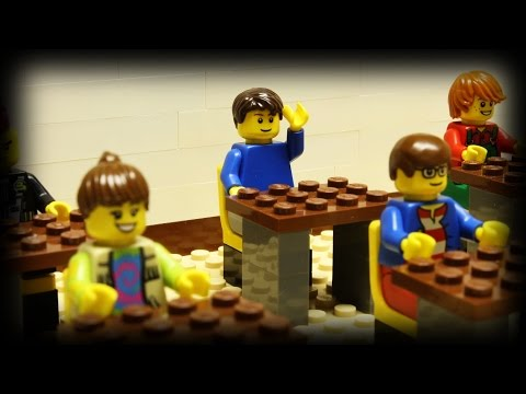 LEGO - A boy's journey is followed through a day at the Lego School.