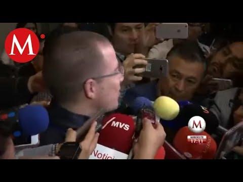 Ricardo Anaya reaparece en la sede del PAN