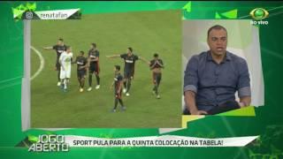 Comentarista destaca a recuperação do Sport e acrescenta que os resultados estão acontecendo pois Luxemburgo está comprometido apenas no comando técnico.