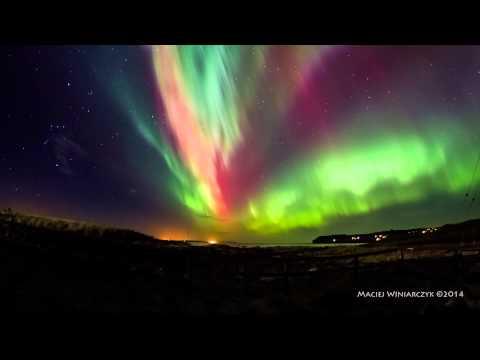 che spettacolo la natura - aurora boreale
