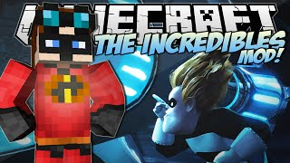 Minecraft | THE INCREDIBLES MOD! (Become an Incredible&Frozone!) | Mod Showcase