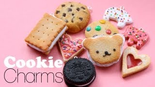 Scented Cookie Charms - Polymer Clay Dessert Jewelry Tutorial - YouTube