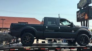 2015 Ford F350 6.7L Powerstroke on the dyno at The Ranch Dyno competition 2017. The truck has intake, deletes, straight pipe, and 240hp tune. Dyno sheet at the end.