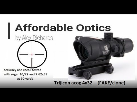 FAKE:  Trijiicon ACOG 4x32 Testing An Review