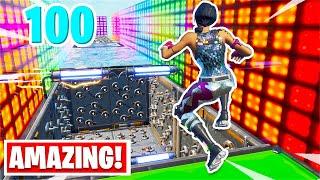 I found the BEST 100 Level Deathrun w/NEW Jumps... (Fortnite Creative)