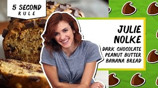 Dark Chocolate Peanut Butter Banana Bread l 5 Second Rule with Julie Nolke by Tastemade