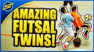 Amazing FUTSAL Twins - Ultimate Skills ★ Falcao/Neymar/Ronaldo/Ricardinho Skills - SkillTwins
