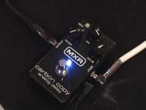 gearmanndude MXR Carbon Copy Delay pedal demo