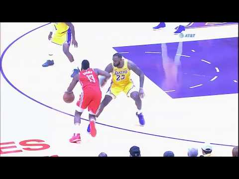 James Harden destroys LeBron James one-on-one