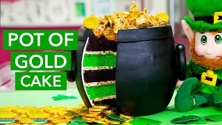 Video How To Make a POT OF GOLD Cake! Overflowing With Sponge Toffee Gold Nuggets & Chocolate Coins! MP3, 3GP, MP4, WEBM, AVI, FLV Maret 2018