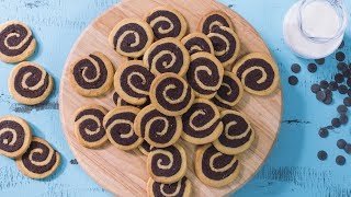 Vanilla Chocolate Swirl Cookies Recipe Video