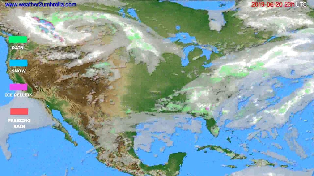Precipitation forecast USA & Canada // modelrun: 12h UTC 2019-06-17