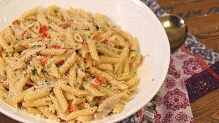 Creamy Cajun Turkey Pasta (Thanksgiving Leftovers!) by Laura in the Kitchen