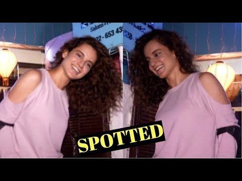Kangana Ranaut Spotted Walking With Fractured Leg At BBlunt Salon In Bandra