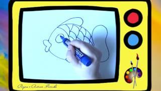 Как нарисовать рыбку. Оживающие рисунки