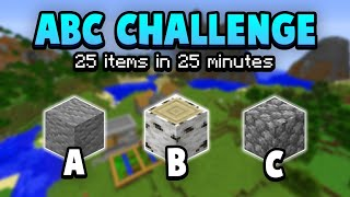 The A To Z Of Minecraft Challenge