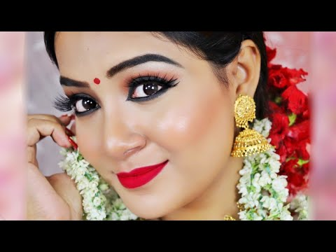 I Transformed Myself into a BENGALI GIRL | Durga Puja Makeup Tutorial