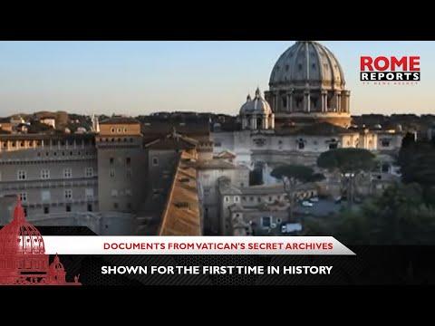 Documenten uit de geheime archieven van het Vaticaan worden voor het eerst in de geschiedenis getoond