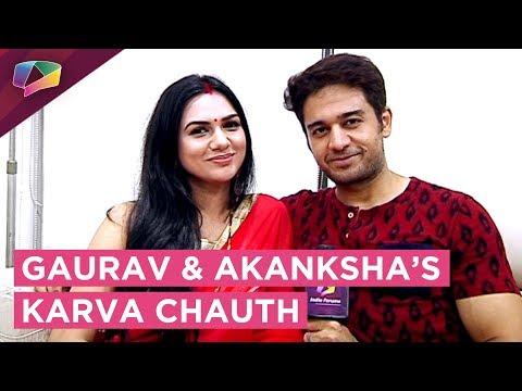 Gaurav Khanna And Akanksha Chamola Celebrate Karva
