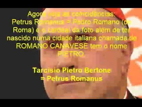 O anticristo já está no Vaticano SAIBA PORQUE O PAPA BENTO XVI RENUNCIOU! Petrus Romanus