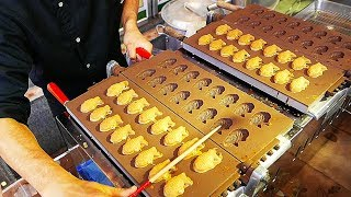 Video Japanese Street Food - TAIYAKI CAKE Red Bean Sweet Potato Japan MP3, 3GP, MP4, WEBM, AVI, FLV April 2019