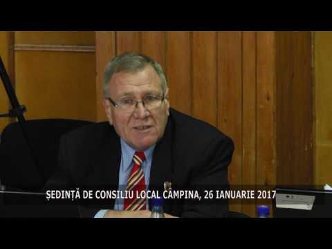 Ședința Consiliului Local Câmpina din 26 ianuarie 2017
