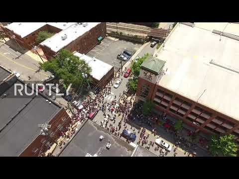 USA: Drone captures moment of car attack on Charlottesville protesters