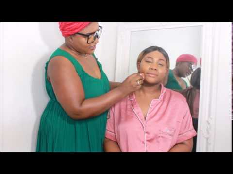 MY FUNNY AFRICAN MUM DOES MY MAKEUP!!!
