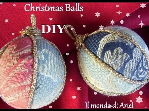 tutorial palline di natale in patchwork - ecco come farle!