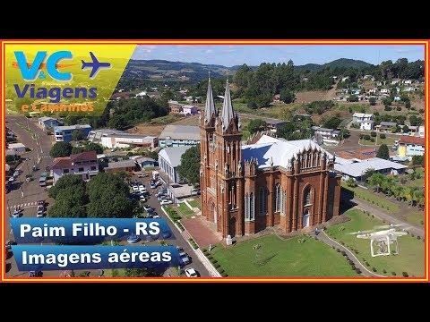 Sobrevoando Paim Filho - RS (imagens aéreas drone)