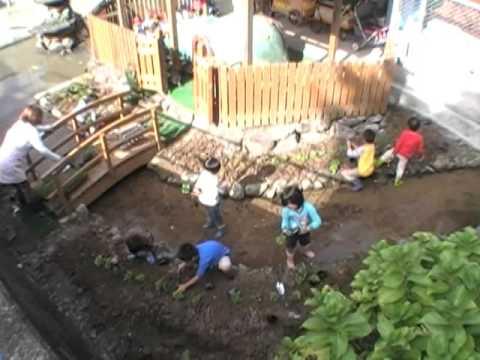 南島原市緑化推進事業 花苗植え 加津佐町若木保育園