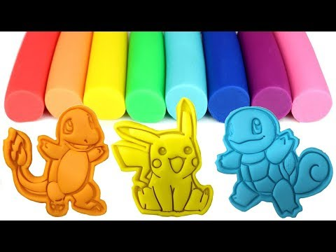 Pokemon Go Pikachu Play Doh Molds and Toys Bulbasaur Charmander Squirtle Eevee ポケットモンスター