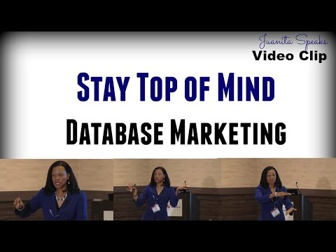Stay Top of Mind Marketing Tip - Video Clip and Speaker Sample