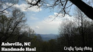 Over Easter weekend, we went to Asheville, NC for a little family getaway. Asheville has a lot of art, music, dancing, history, and nature. We packed in lots of fun and a little shopping. This haul showcases some of the many things Asheville has to offer. The opening photo is the view from the cabin we rented. It was almost at the top of a mountain, over 3,700 elevation. Gorgeous views and lots of privacy, which is a great calm place to enjoy.I included a haul list with the video, but here are links to the stores and artists.SCARFSheila ThibodeauxEco Depot Marketplace - http://ecodepotmarketplace.com/PRINTRatbee Letterpress - http://www.ratbeepress.com/Horse and Hero - https://www.facebook.com/horseandhero/LEATHEREarth Guild - http://www.earthguild.com/NECKLACEI don't know who made itCharmed Asheville - https://www.facebook.com/CharmedAVL/SARI YARNDarn Good Yarn - https://www.darngoodyarn.com/Purl's Yarn Emporium - https://purlsyarnemporium.comSOCIAL MEDIA:Website: http://www.craftyladyabby.comFacebook: https://twitter.com/CraftyLadyAbbyTwitter: https://www.facebook.com/CraftyLadyAbbyPinterest: https://www.pinterest.com/CraftyLadyAbbyInstagram: https://instagram.com/craftyladyabby