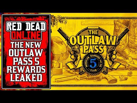 All New OUTLAW PASS 5 Tiers & Rewards LEAKED! New Red Dead Online Update (RDR2)