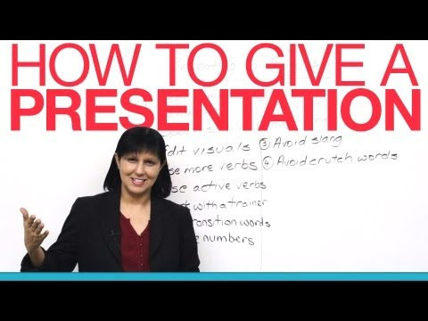 Presentation - Deliver a successful English presentation with 12 important tips from an experienced presentations coach. http://www.presentationprep.com/ An essential lesso...