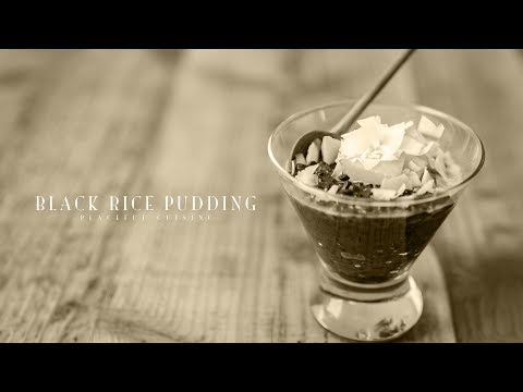 [No Music] How To Make Black Rice Pudding