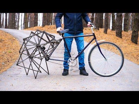 Когда на велосипеде не ездишь,а ходишь