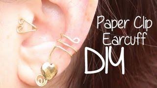 Paperclip Ear Cuff ♥ DIY - YouTube