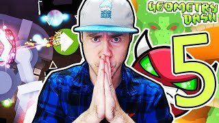 COMPLETING 5 DEMONS IN ONE VIDEO // Geometry Dash