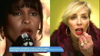 A cantora escreveu que preferia morrer a ser como uma das duas. Sharon Stone, no entanto, defendeu a colega. Veja os detalhes na Hora da Venenosa desta sexta (14).