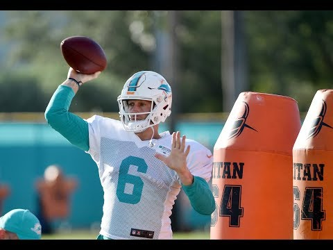 Jay Cutler Practices at Dolphins Camp | Stadium