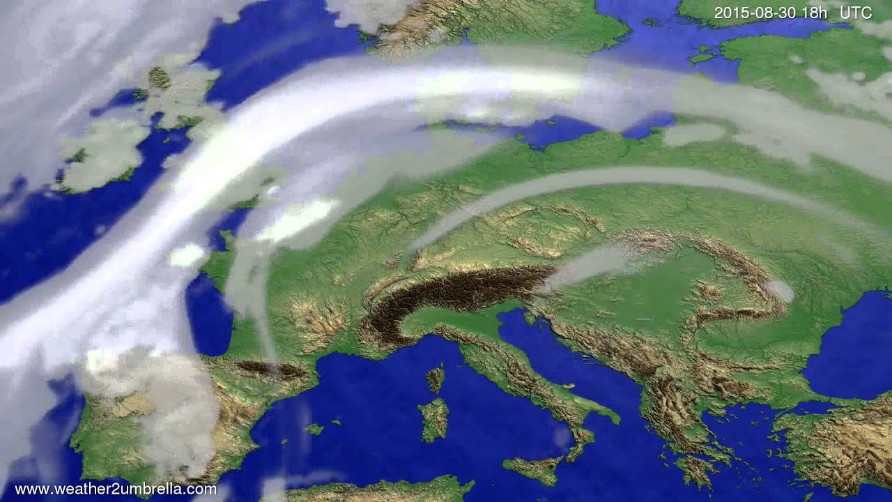 Cloud forecast Europe 2015-08-27