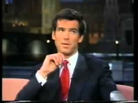 Pierce Brosnan interview Late Show with David Letterman (1995)