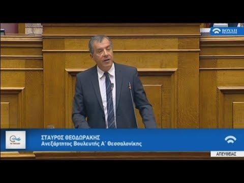 Aπόσπασμα από την ομιλία του Σταύρου Θεοδωράκη στη βουλή  για την κύρωση της Συμφωνίας των Πρεσπών