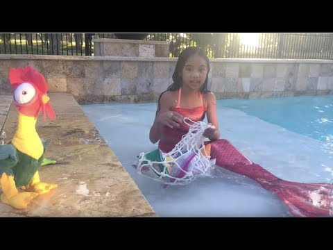 Moana's Pirate Tamatoa & Mermaid Adventures Pretend Play | Toys Academy