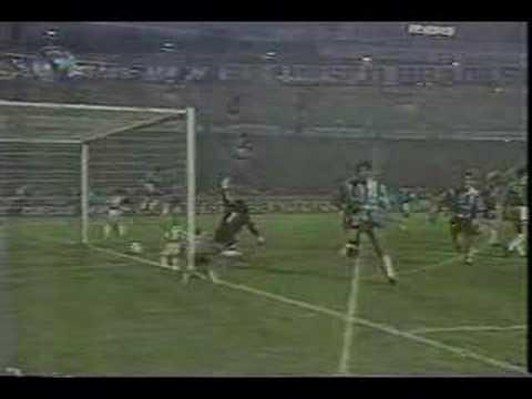 gol na final libertadores - 2° gol na final da libertadores de 1995 Gol de Jardel contra o Atletico Nacional da Colombia.