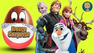 DISNEY KINDER Eggs - Play Doh Frozen Elsa and Anna 5 - Olaf Frozen in Disney Surprise Eggs